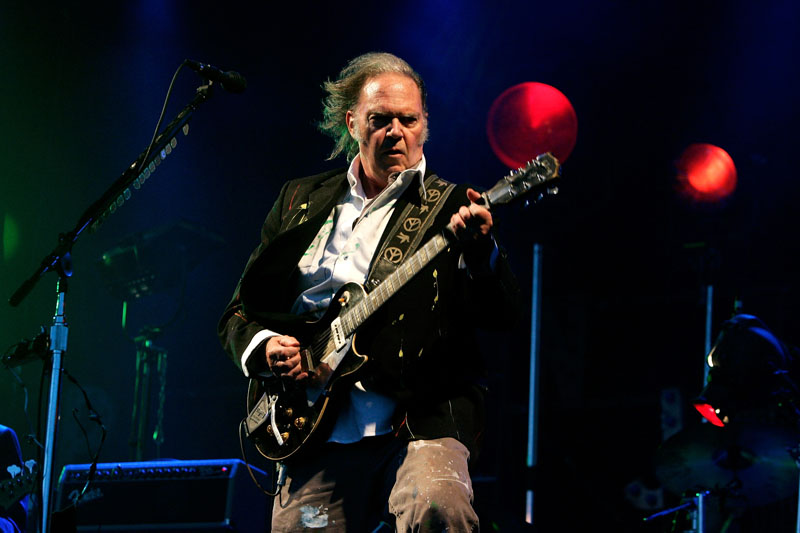 Neil Young at the Hop Farm Festival.