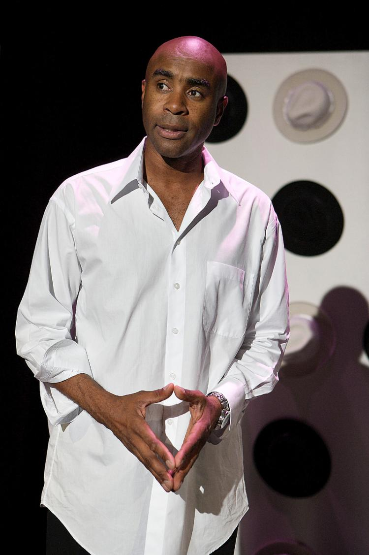 Don Reed in his one-man show 'East 14th: True Tales of a Reluctant Player.' (Aaron Epstein)