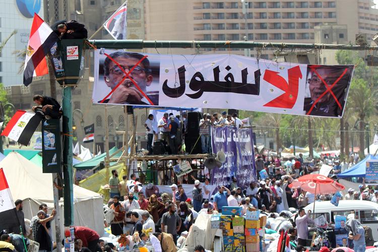 Egyptian sit on the traffic light decora