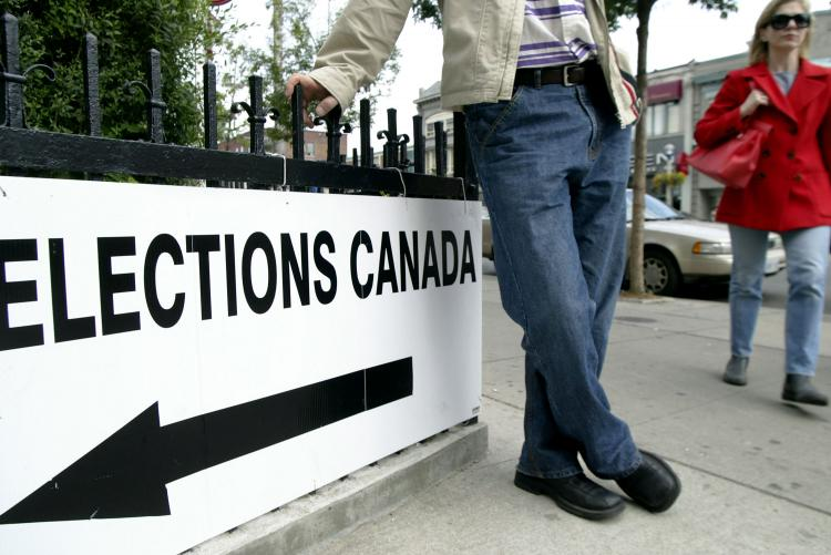 LOW TURNOUT: A report by the Canadian Chamber of Commerce says that before another election gets underway politicians of all stripes need to think about how many Canadians will actually turn out to vote.  (Donald Weber/Getty Images)
