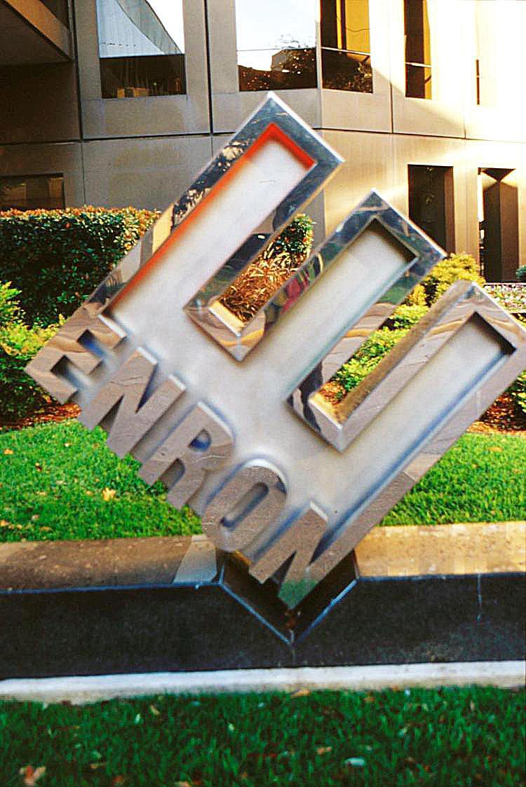 Enron headquarters in Houston, Texas. (James Nielsen/Getty Images)