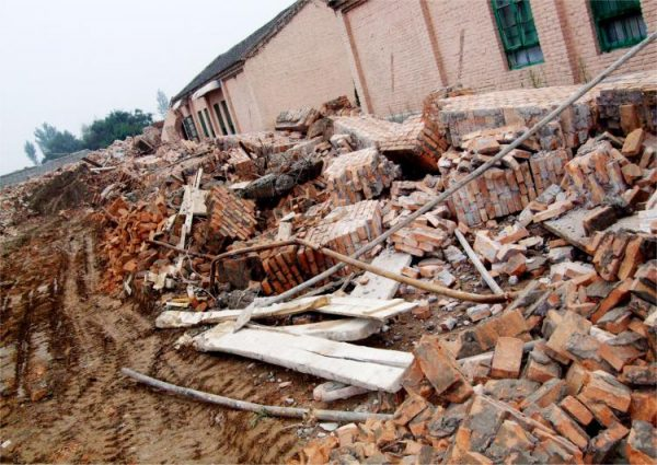 Church destroyed in China
