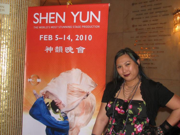 Ms. Soliday at the Shen Yun show in Los Angeles on Feb. 13, 2010. (The Epoch Times)