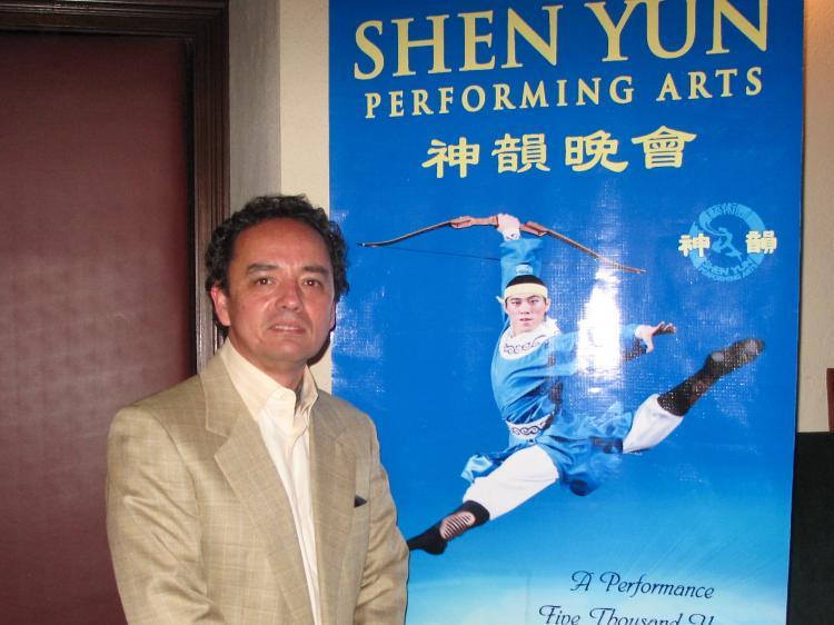 Luis Solis, a clothing designer, at Shen Yun Performing Arts in Pasadena, California. (Jenny Liu/The Epoch Times)