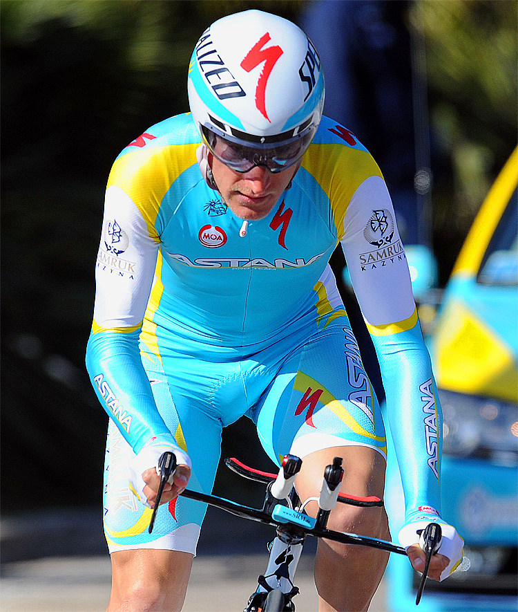 Enrico Gasparotto of Astana Pro Team rides during the Stage Seven of the 2012 Tirreno-Adriatico on March 13, 2012. (Giuseppe Bellini/Getty Images)