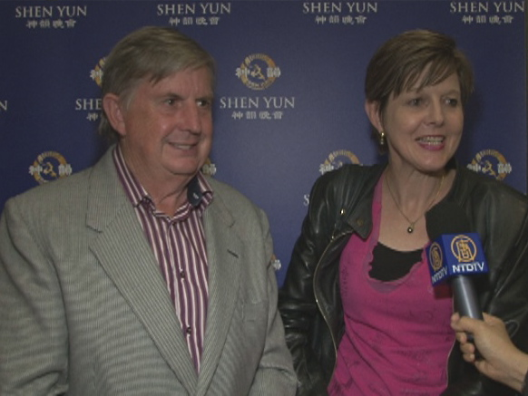 Gilbert Myles and his wife, Tina Myles, attend Shen Yun