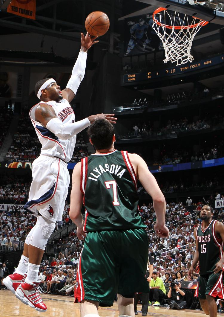 The Atlanta Hawks defeated the Milwaukee Bucks in Game 7 of the Eastern Conference quarterfinals on Sunday to earn the chance to face the Orlando Magic. (Mike Zarrilli/Getty Images )