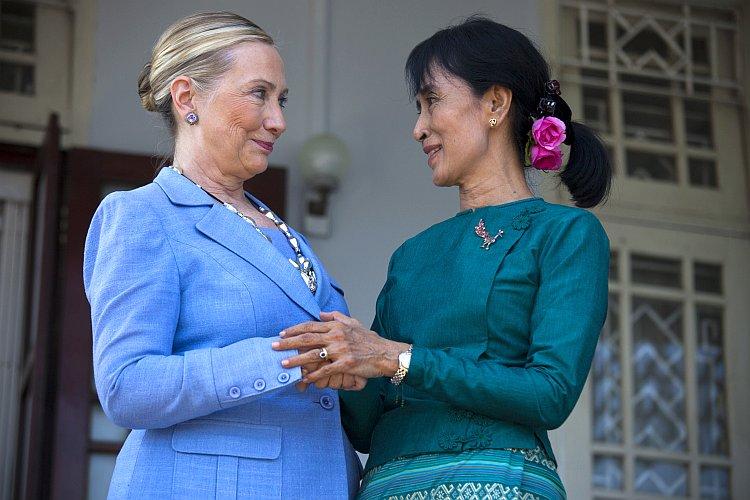 Burma's democracy leader and newly elected Parliamentarian Aung San Suu Kyi