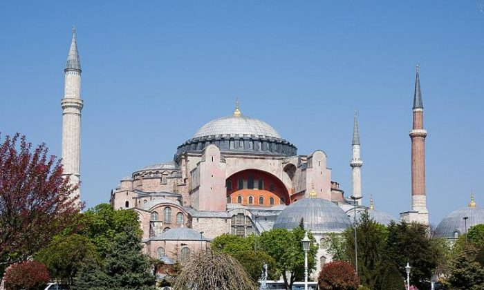 Hagia Sophia, the famous church/mosque embodies Turkey's double history in both the Christian and the Muslim world. (Jan Jekielek/The Epoch Times)
