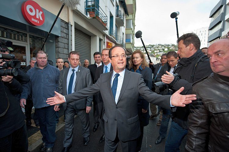Socialist Party candidate François Hollande