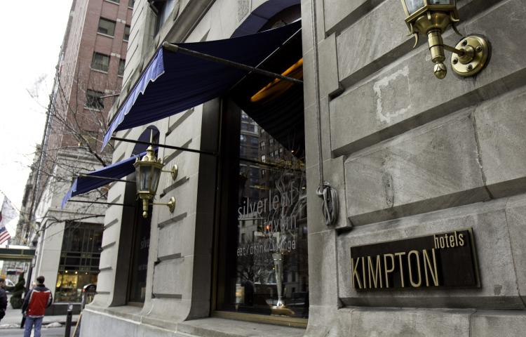 NO VACANCY: High occupancy rates are encouraging companies like Kimpton Hotel and Restaurant Group, LLC to expand in New York. Kimpton Hotels already owns several locations in the city, like 70 Park Avenue Hotel near Grand Central Terminal. (Phoebe Zheng/The Epoch Times)