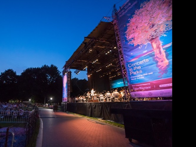 NY Philharmonic gives a free performance in Central Park in Manhattan on July 16, 2012. (Courtesy of Chris Lee)