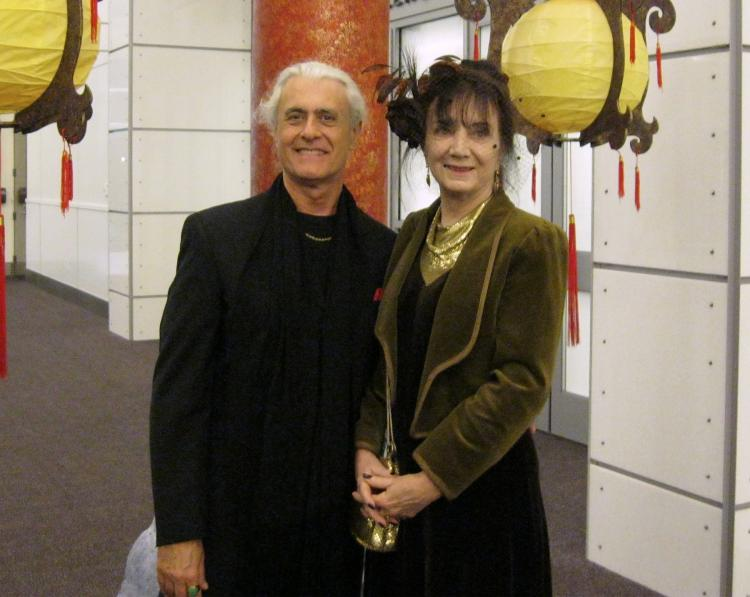 Mr. and Mrs. Fetta, 'it's amazing! Beautiful! ' At the Shen Yun Performing Arts performance on April 28 in Pasadena, California.  (Cheryl Casati/Epoch Times)