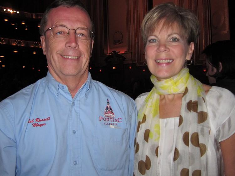 Mayor Robert T. Russell and his wife enjoying Shen Yun
