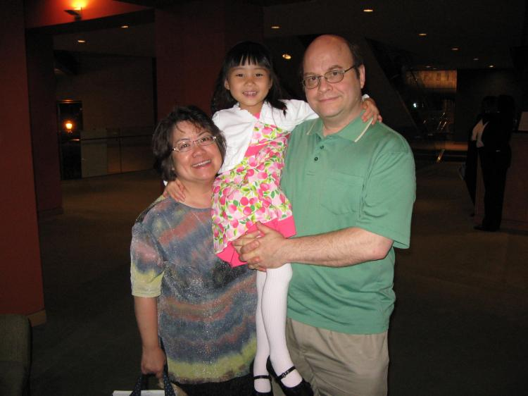 Mr. and Mrs. Gailus came to first Shen Yun 2010 performance in NJPAC on May 22, with their six-year old daughter.  (Joshua Philipp/The Epoch Times)