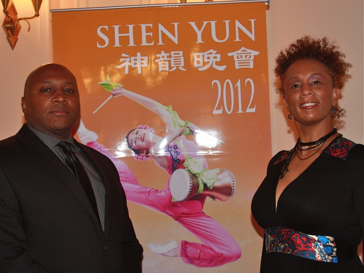 Mike Holeman and Maia La Ville attend Shen Yun
