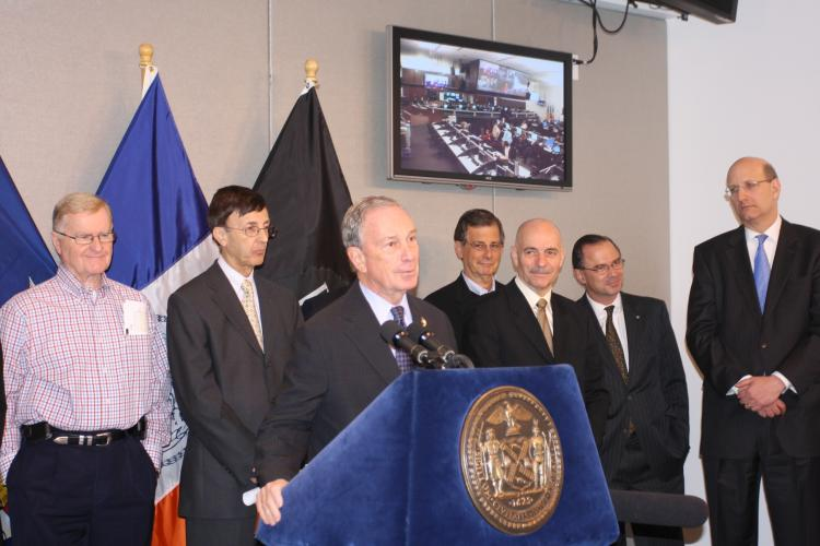 After receiving harsh criticism over slow cleanup efforts following the December 2010 blizzard, Mayor Michael Bloomberg was happy to report Wednesday morning a successful snow removal operation following the Jan. 11 snowstorm. (Tara MacIsaac/The Epoch Times)