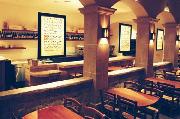 Looking at the bar area from the Dante Room as the main dining room is known. (Michael Harlan Turkell)