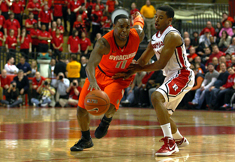 Scoop Jardine (L) hit a pair of big shots late in the game to beat Rutgers. Chris Chambers/Getty Images