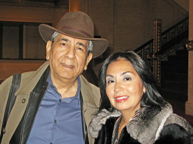 Jorge L. Ayala and Dorena Gregory are at the Shen Yun performance at Chicago's Civic Opera House on April 17. (Epoch Times Staff)