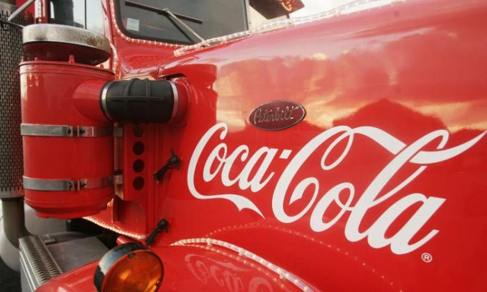 The Coca Cola logo is seen on trucks in Brussels, Belgium.   (Mark Renders/Getty Images)