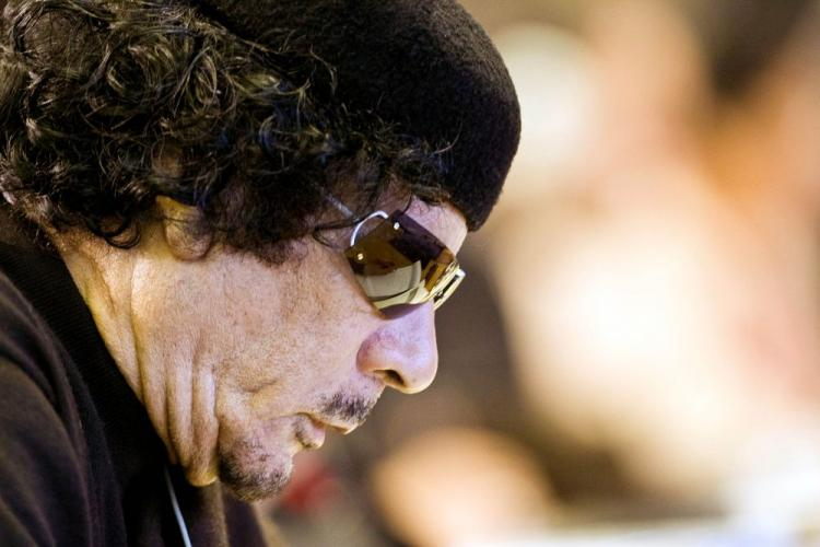 Libyan leader Muammar Gadaffi at a World Summit on Food Security on Nov. 16, 2009, in Rome, Italy. (Alessandro Bianchi/AFP/Getty Images)