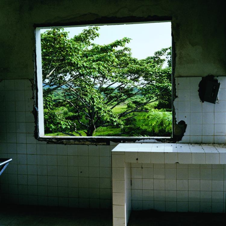 WINDOW: Abandoned hospital in Tubmanberg, Bomi County, Liberia, 2003.  (Tim Hetherington)