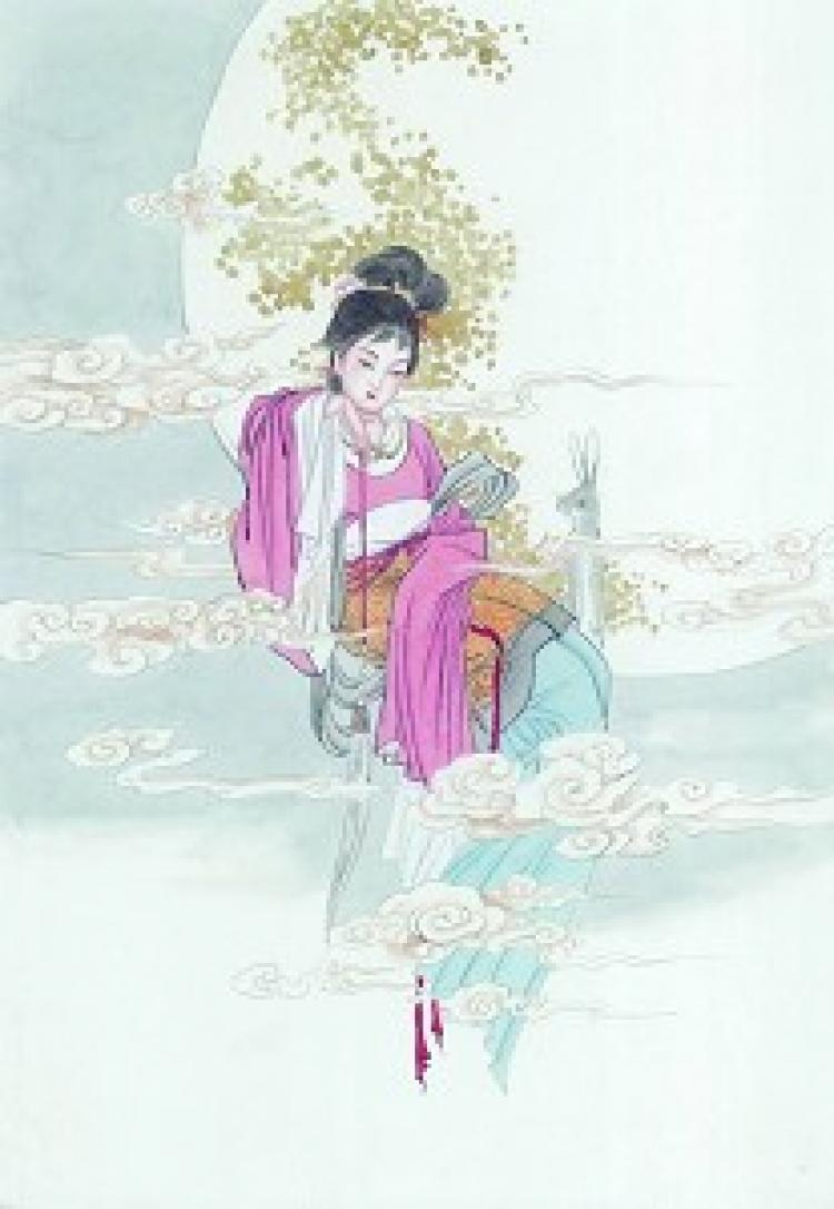 The Lady of the Moon adds an air of romance to the Mid-Autumn Festival.  (The Epoch Times)