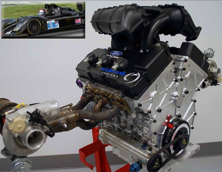 The new Libra Radical's Ford-based 3.2-liter Roush Yates turbocharged V6 has yet to run in competition. (Blackngold.com)