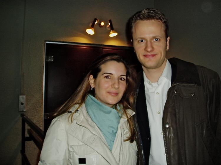 Mr. Volker, a German banker, and his wife. (Liu Wei/The Epoch Times Staff)