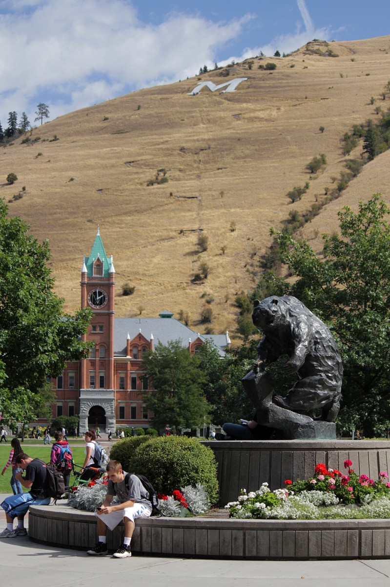 The University of Montana campus in Missoula