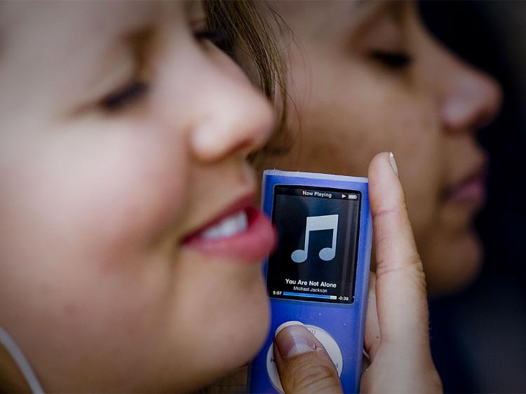 STORAGE SERVICE: mSpot lets users upload their music files into a storage cloud, which can be accessed from a desktop browser or cell phone. (Michal Czerwonka/Getty Images)