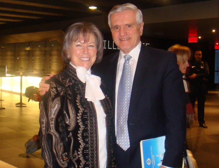 Claude and Micheline Labelle enjoyed the Shen Yun show at Place des Arts on Sunday afternoon. (Dongyu Teng/The Epoch Times)