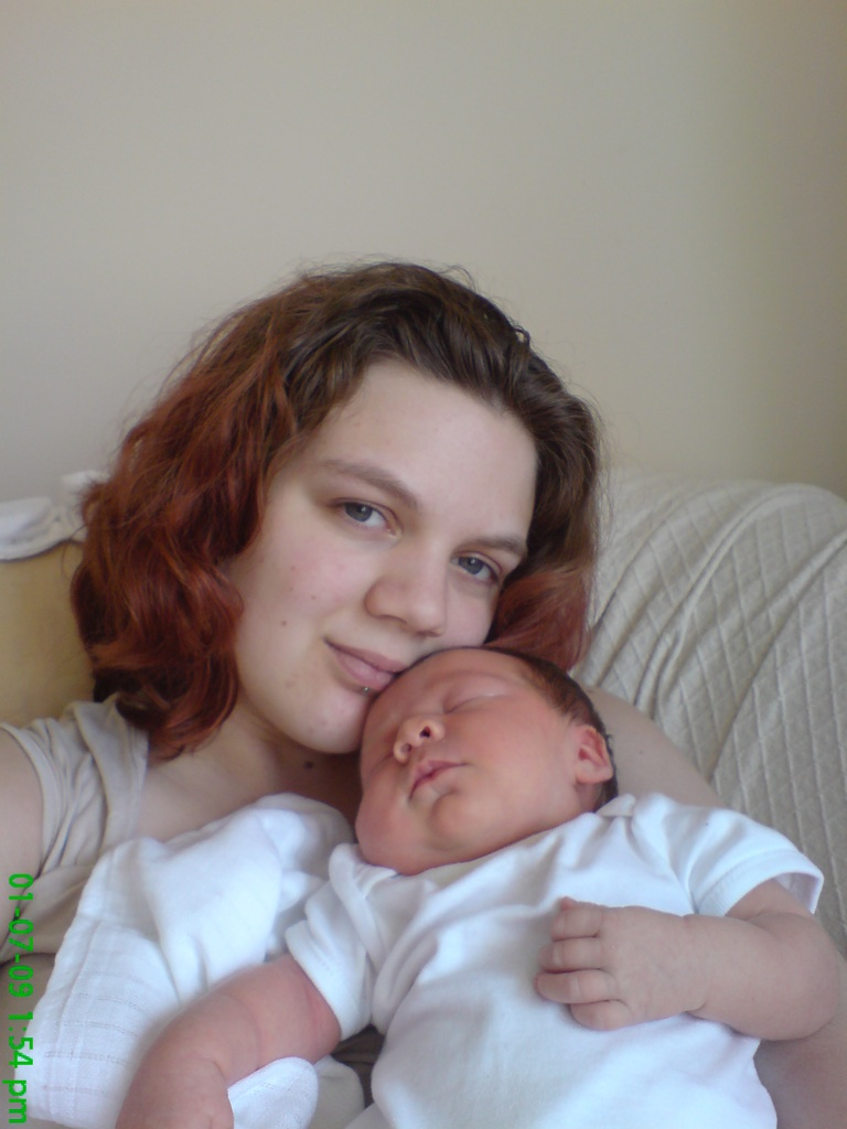 Sophie Prosser and her baby daughter Florence.