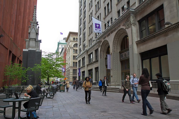 Obama student loans, A view of the NYU campus