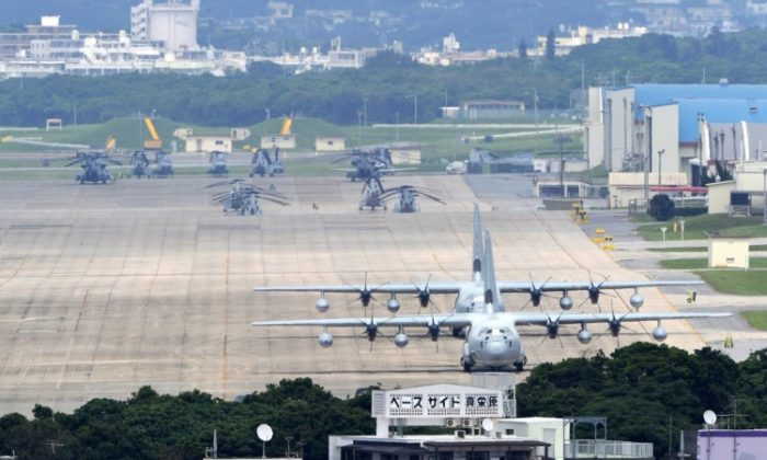U.S. Marine Corps Air Station Futenma, located in the middle of the city of Ginowan, is the most controversial American military facility in Japan's Okinawa prefecture. (Toshifumi Kitamura/AFP/Getty Images)