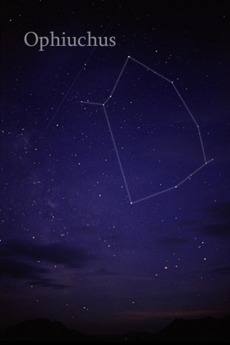 The constellation Ophiuchus (Wikimedia Commons)