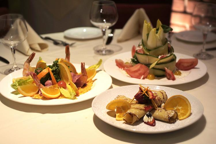 Although the food at Fabio Piccolo Fiore is very artistic and creative in its presentation, the style is simple, natural, and leaves you satiated without a feeling of heaviness.  (Courtesy of Fabio Piccolo Fiore)