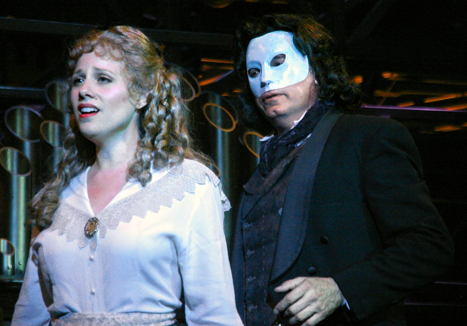 Johanna McKenzie Miller and Larry Adams in what fans call the smarter  Phantom (Greg Kolack)