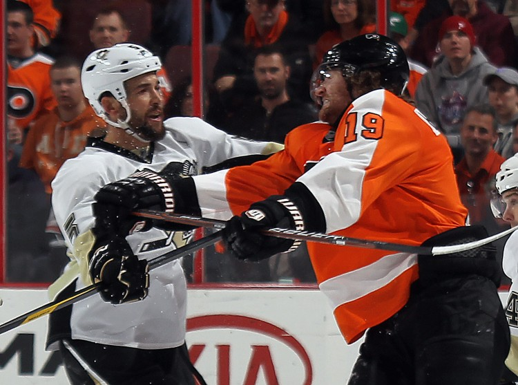 Pittsburgh and Philadelphia renew their heated rivalry in the first round of the NHL playoffs. (Bruce Bennett/Getty Images)