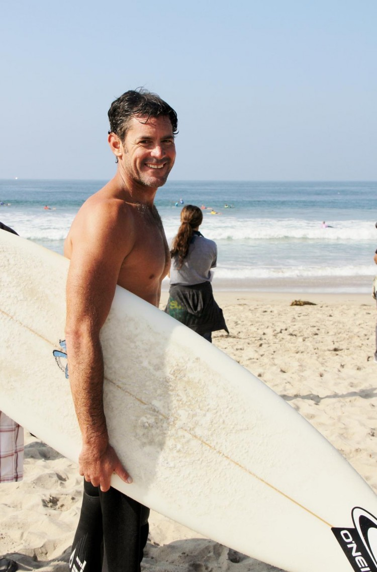 James Pribram, a pro surfer, emphasized the importance of keeping our waters clean because 'We're all connected by one ocean.' (Danielle Kaiser)