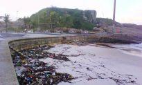Giant Waves Wash Over Rio's Coast