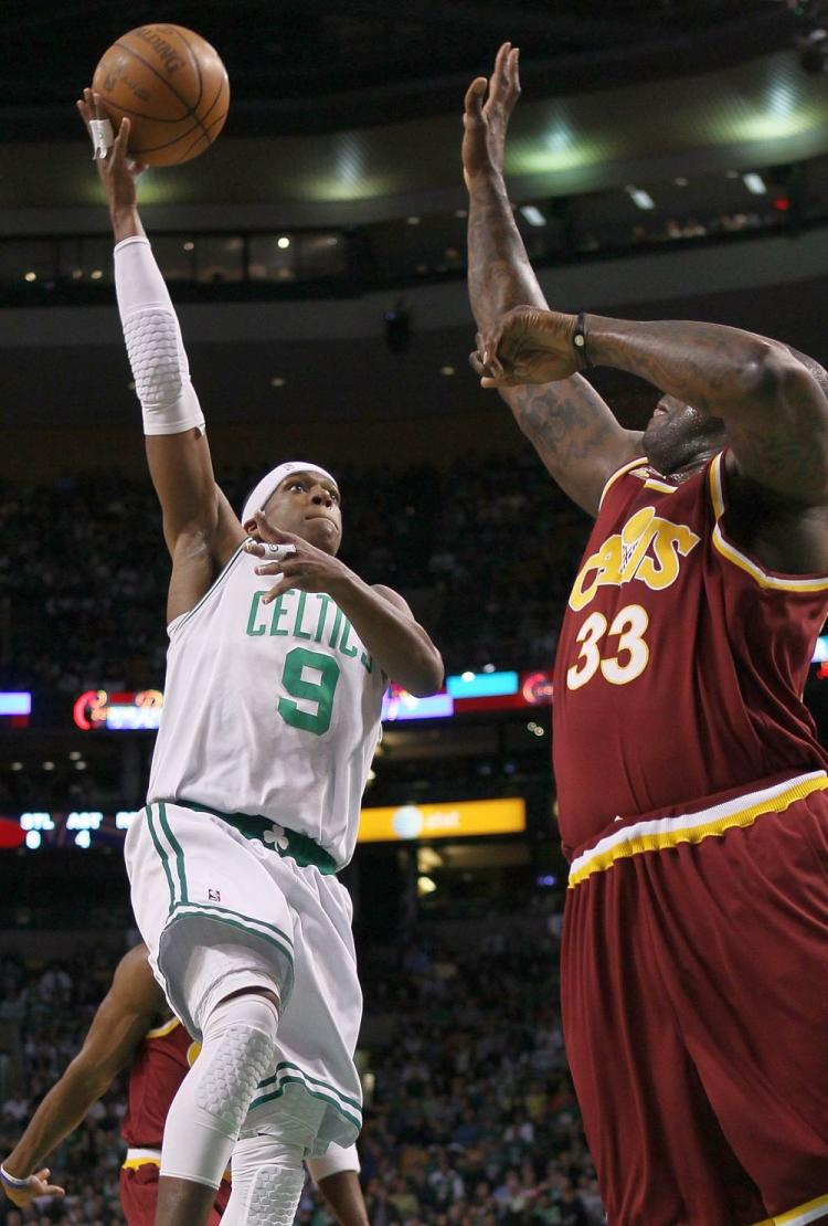 TAKING CHARGE: Rajon Rondo's leadership of the Boston Celtics was on clear display on Monday night with 13 points and 19 assists to lift Boston over Cleveland 104-86. (Gregory Shamus/Getty Images)