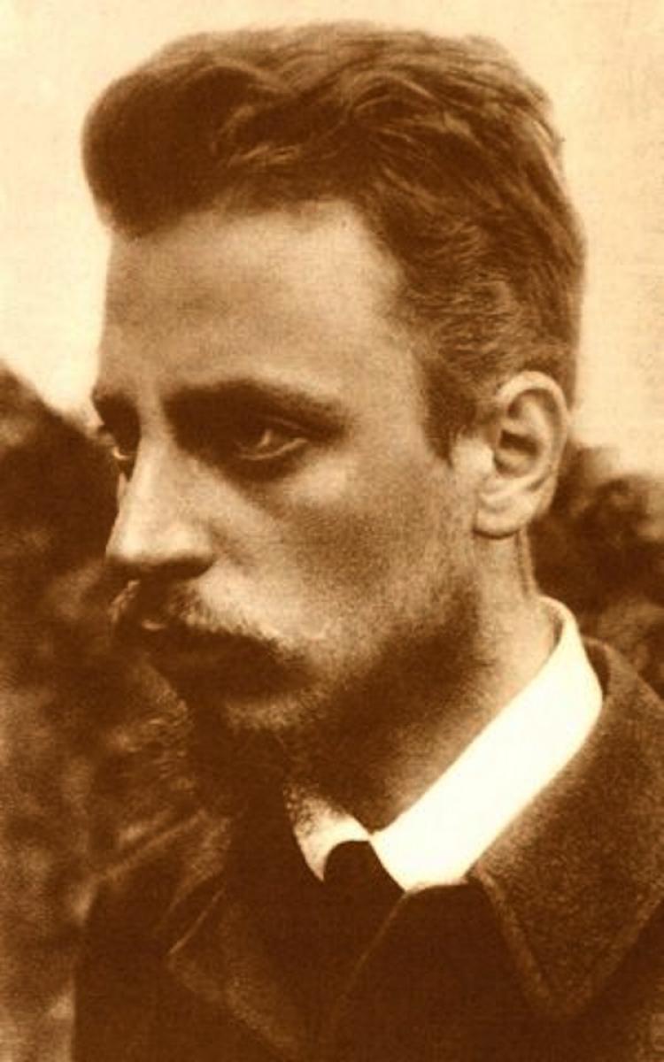 Rainer Maria Rilke in September 1900  (Courtesy of zeno.org)