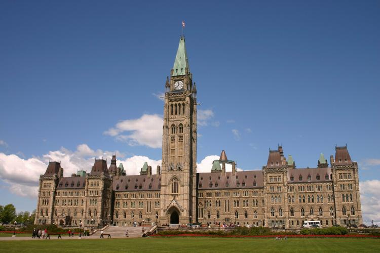 Centre Block on Parliament Hill in Ottawa, the seat of Canada's government. (Jan Jekielek/The Epoch Times)