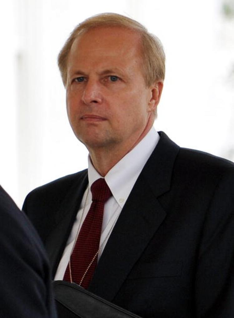 Robert Dudley, BP Managing Director, at the White House on June 16. Dudley is expected to replace current BP CEO Tony Hayward early this week. (Mandel Ngan/AFP/Getty Images)