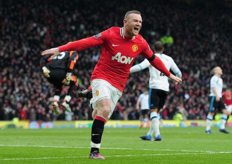 Manchester United's Wayne Rooney was the difference-maker as the Red Devils gained a measure of revenge over Liverpool. (Shaun Botterill/Getty Images)
