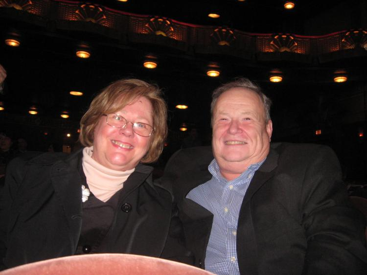 Mr. Jack Ross and his wife, Melanie, joined the enthusiastic audience attending Shen Yun Performing Arts Thursday evening, April 21, at the Civic Opera House. (Epoch Times Staff)