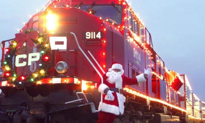 The Canadian Pacific Holiday Train travels through 140 cities and towns in Canada and the United States raising funds for local food banks.  (Canadian Pacific Railway)