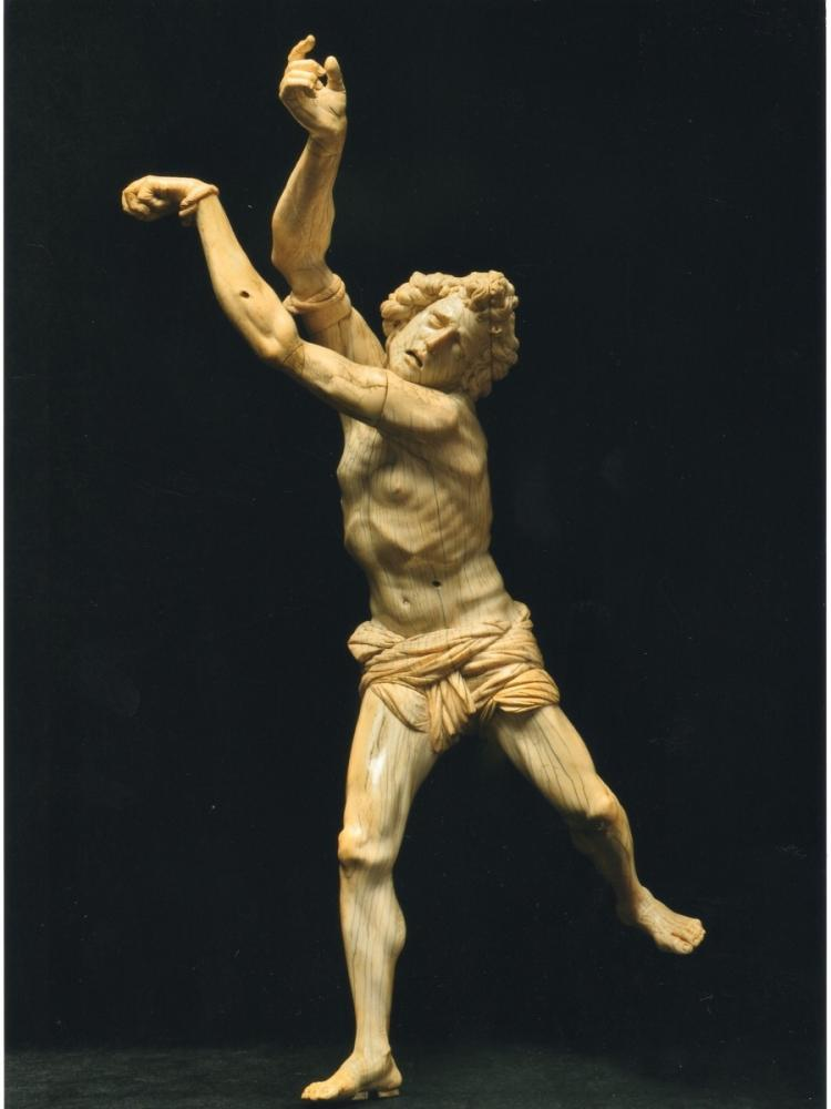 IMPRESSIVE IVORY: The Saint Sebastian by Jacobus Agnesius is a rediscovered masterpiece and is very large for an ivory sculpture. (Maggie Nimkin)